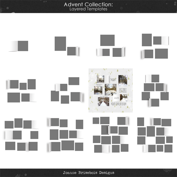 Advent Collection Layered Templates