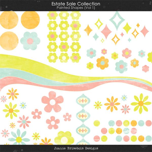 Estate Sale Collection: Painted Shapes (Vol 1) Element Pack
