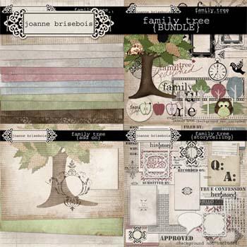 Family Tree {Bundle} Element & Paper Packs