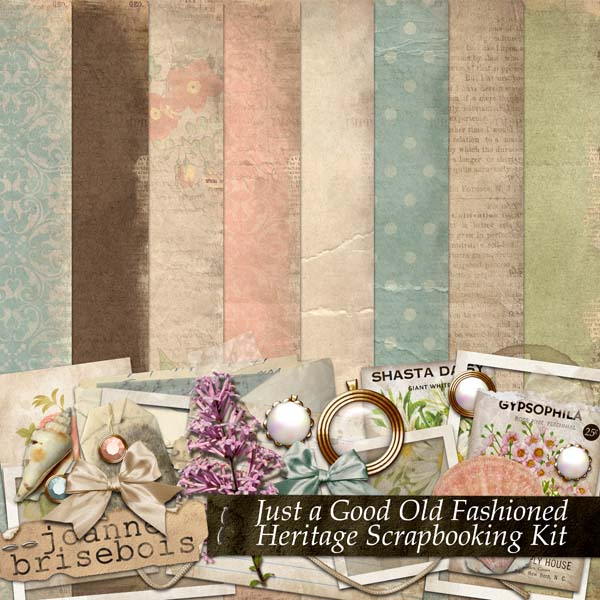 Just a Good Old Fashioned Heritage Scrapbooking Kit