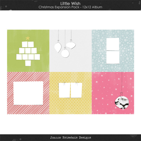 Little Wish Christmas Expansion Pack 12x12 Album