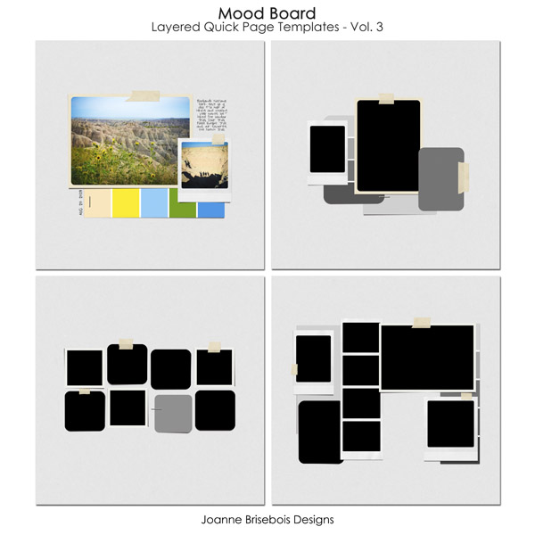 Mood Board Layered Quick Page Templates Vol 3