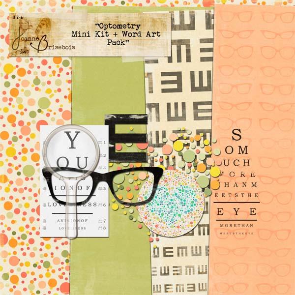 Optometry Mini Kit + Word Art Pack