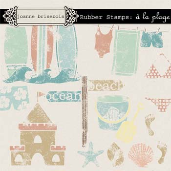 Rubber Stamps: à la plage Element Pack