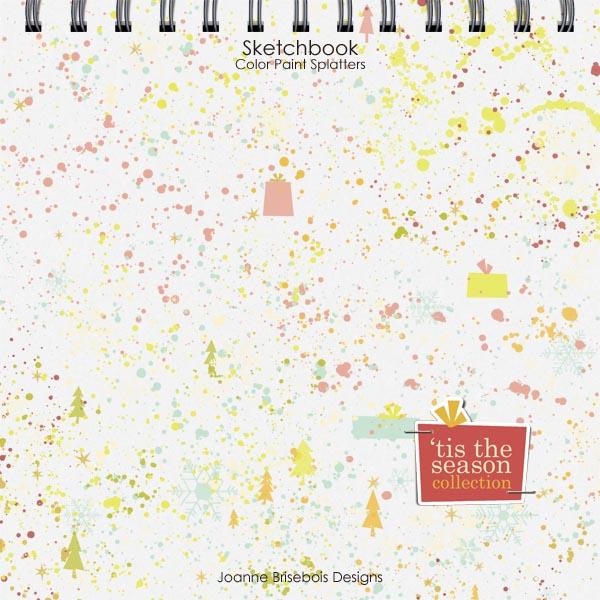 Sketchbook Color Paint Splatters