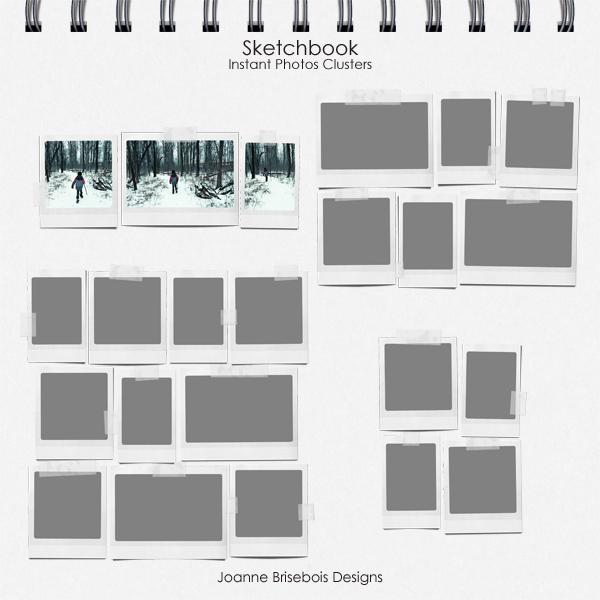 Sketchbook Instant Photos Clusters