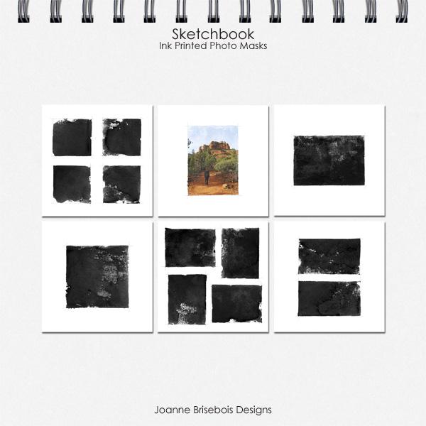 Sketchbook Ink Printed Photo Masks