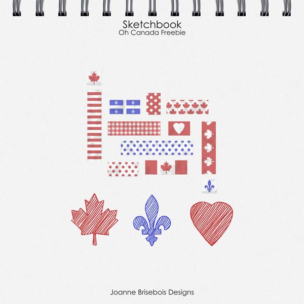 Sketchbook Oh Canada Freebie