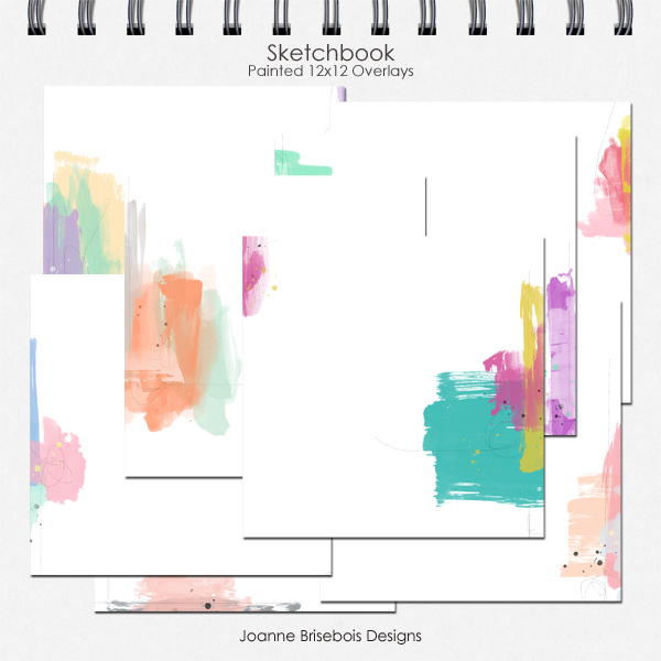 Sketchbook Painted 12x12 Overlays
