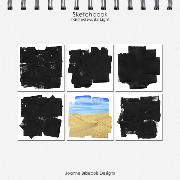 Sketchbook Painted Masks Eight