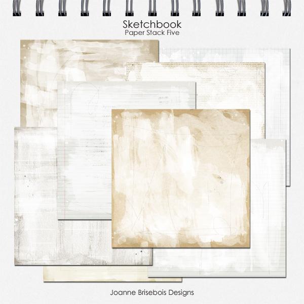 Sketchbook Paper Stack Five
