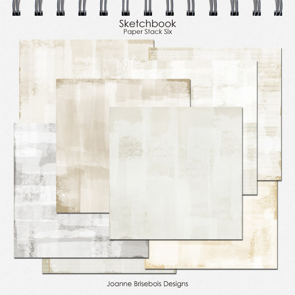 Sketchbook Paper Stack Six