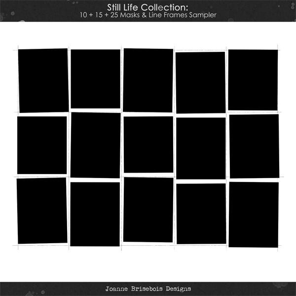 Still Life Collection: 10 + 15 + 25 Masks & Line Frames Sampler