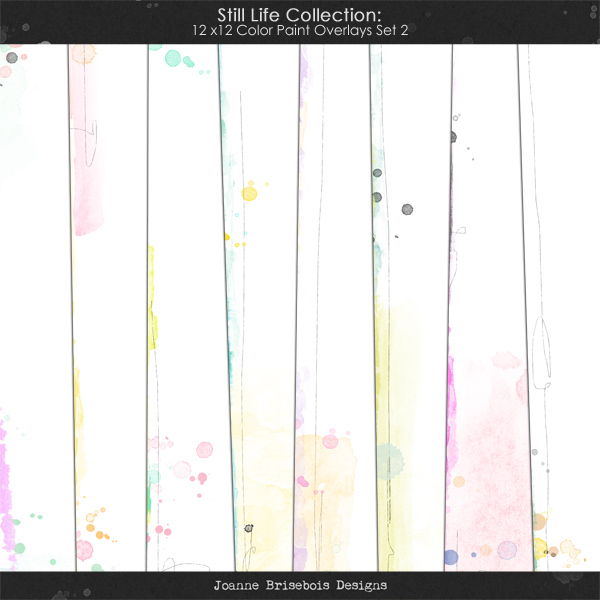 Still Life Collection: 12x12 Color Paint Overlays Set 2 Element Pack
