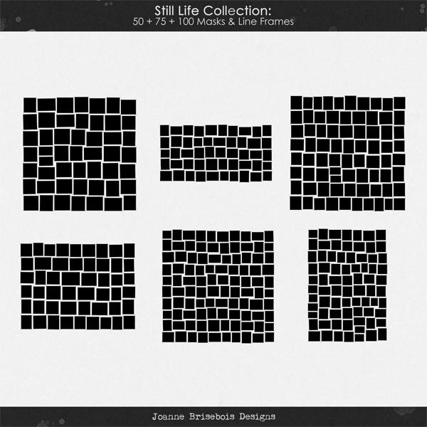 Still Life Collection: 50 + 75 + 100 Masks & Line Frames