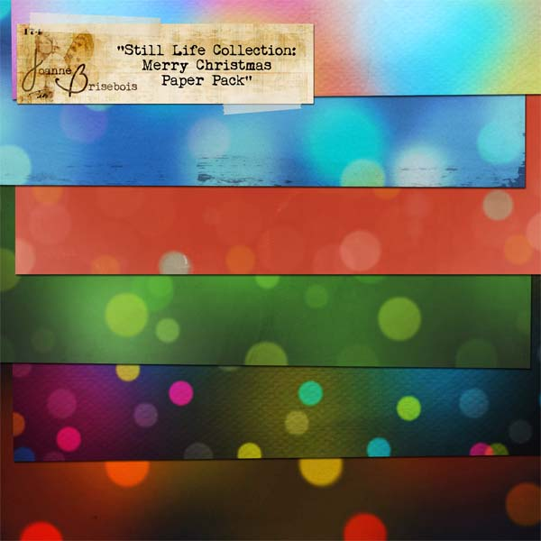 Still Life Collection: Merry Christmas Paper Pack