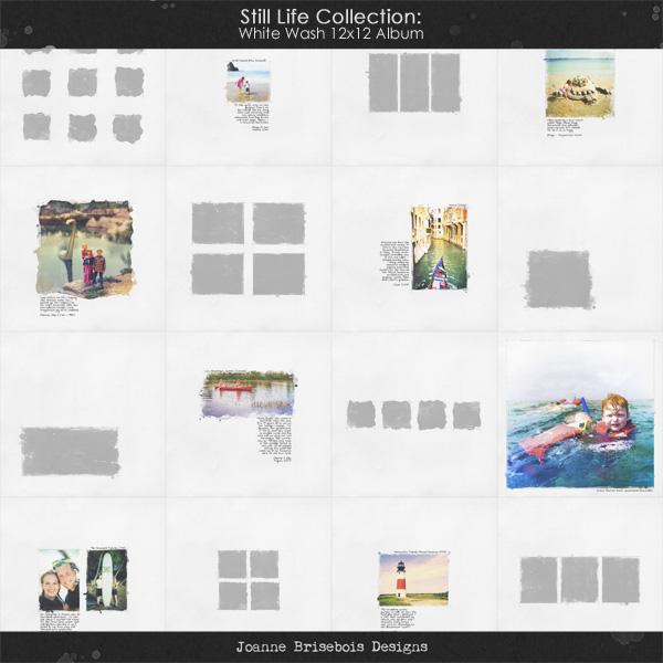 Still Life Collection: White Wash 12x12 Album
