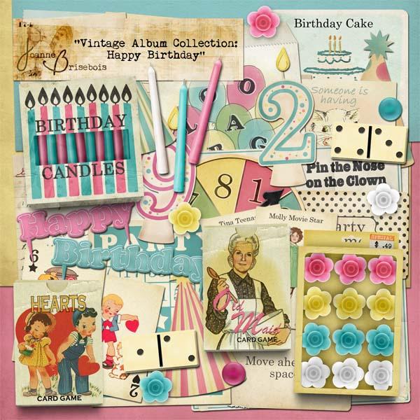 Vintage Album Collection: Happy Birthday Element Pack