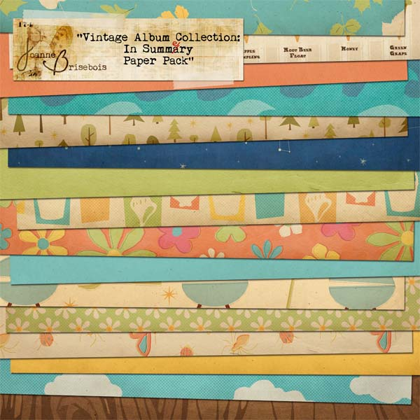 Vintage Album Collection: In Summery Paper Pack
