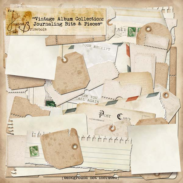 Vintage Album Collection: Journaling Bits and Pieces Element Pack
