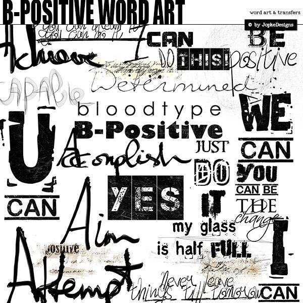 B-Positive Word Art