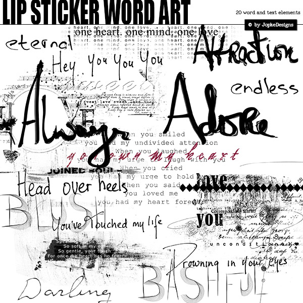 Lip Sticker Word Art