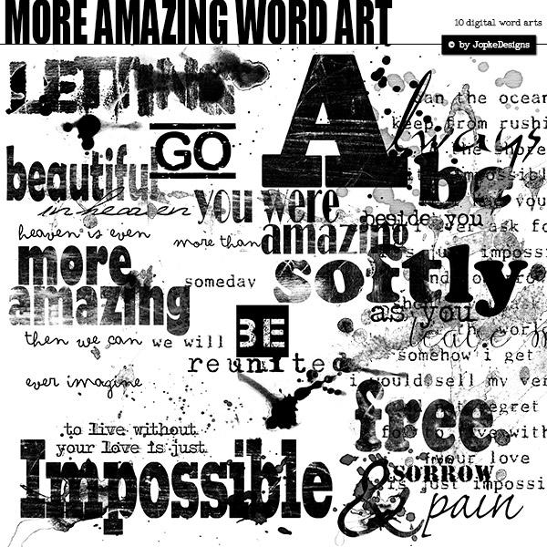 More Amazing Word Art