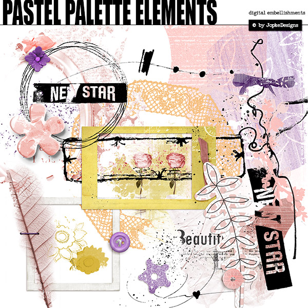 Pastel Palette Elements