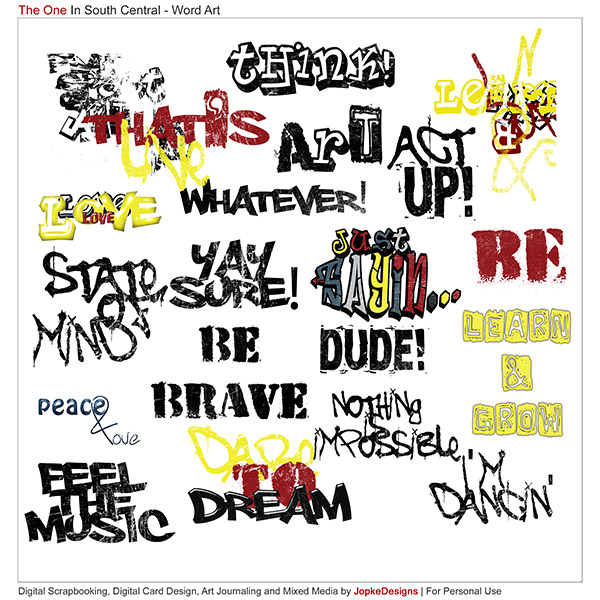 South Central Word Art