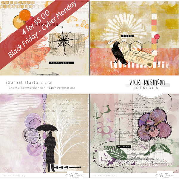 Journal Starters 1-4 Pack - 4/$5 - Black Friday Special