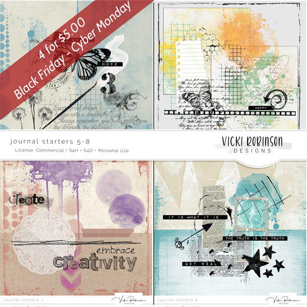 Journal Starters 5-8 Pack - 4/$5 - Black Friday Special