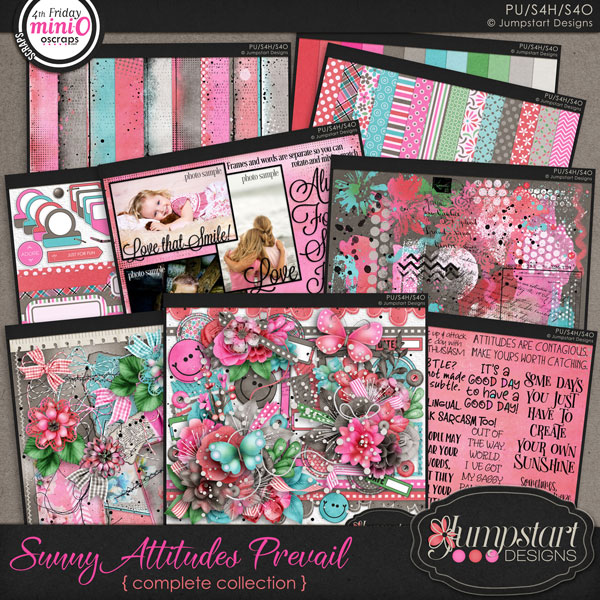 Sunny Attitudes Prevail COMPLETE COLLECTION by Jumpstart Designs