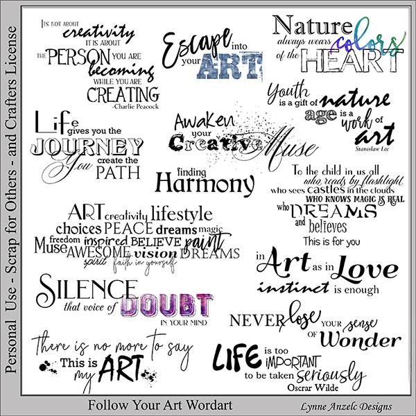 Follow Your Art Wordart