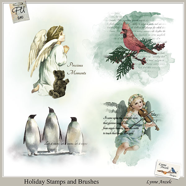 Holiday Stamps and Brushes