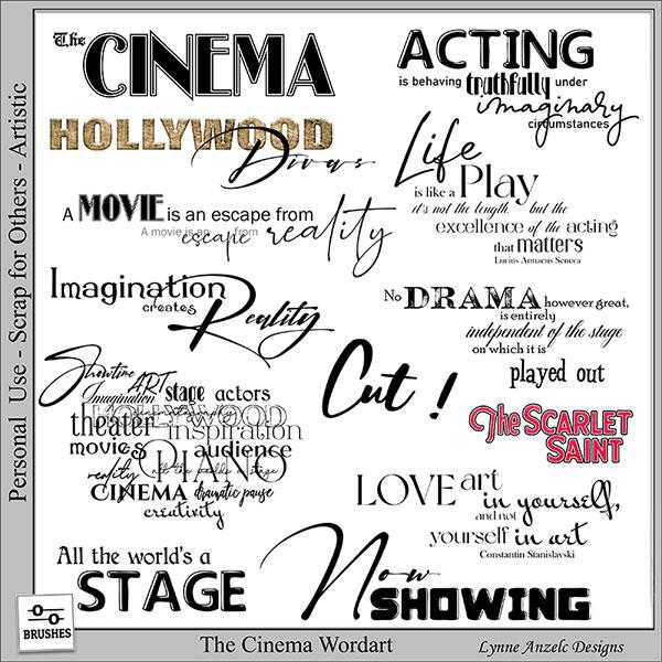 The Cinema Wordart