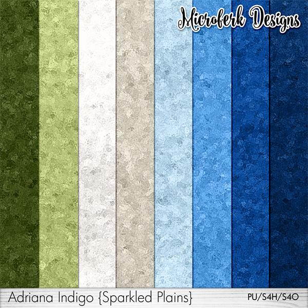 Adriana Indigo Sparkled Plains