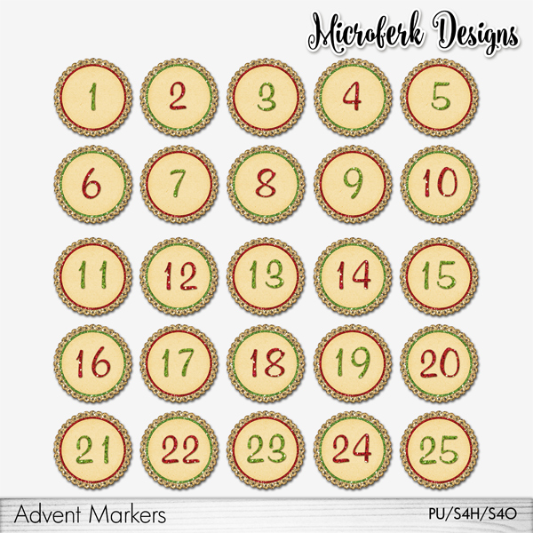 Advent Markers