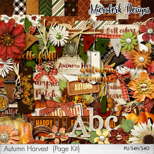 Autumn Harvest Page Kit