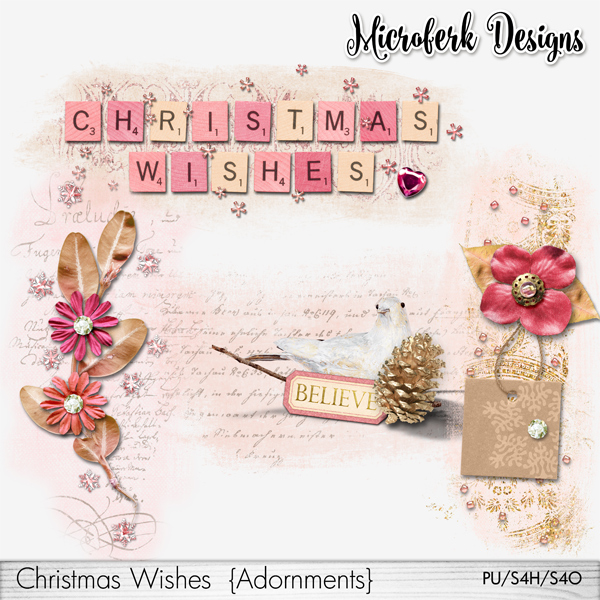Christmas Wishes Adornments