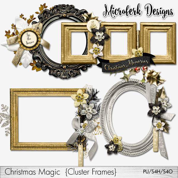 Christmas Magic Cluster Frames