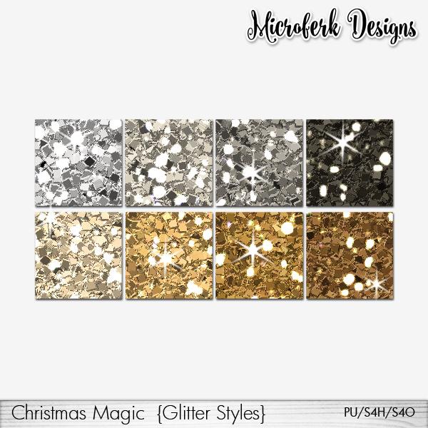 Christmas Magic Glitter Styles