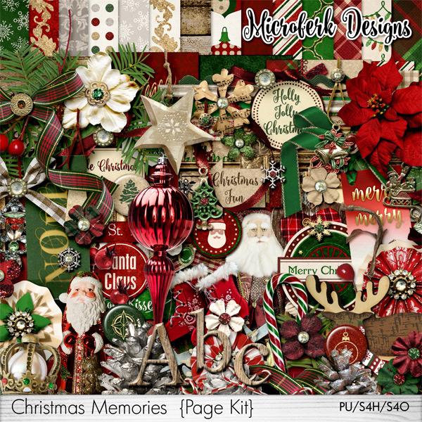 Christmas Memories Page Kit