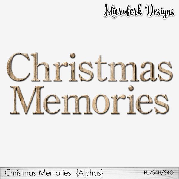 Christmas Memories Alphas