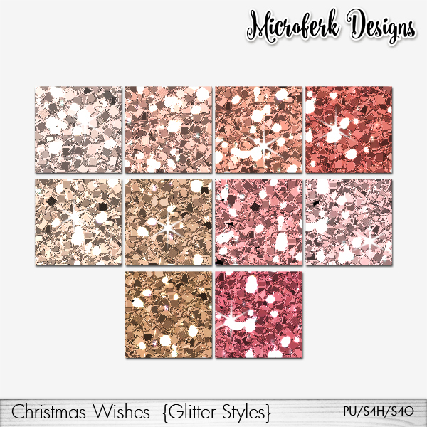 Christmas Wishes Glitter Styles