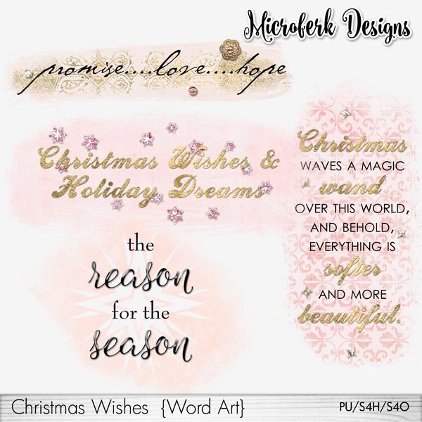 Christmas Wishes Word Art