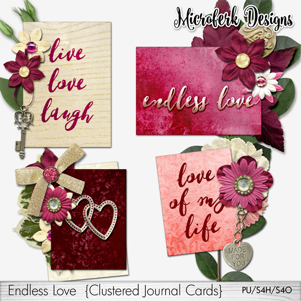 Endless Love Clustered Journal Cards