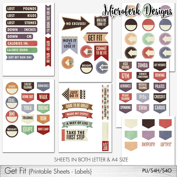 Get Fit Printable Sheets - Labels