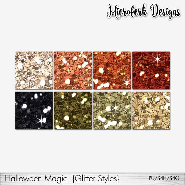 Halloween Magic Glitter Styles
