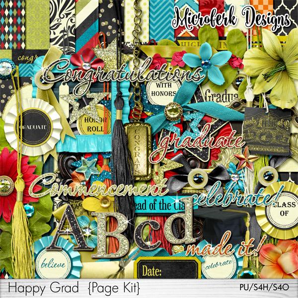 Happy Grad Page Kit