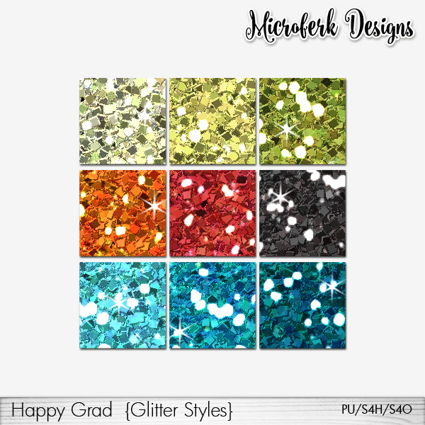 Happy Grad Glitter Styles